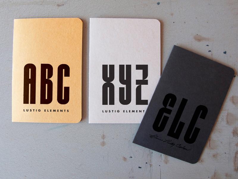 Tipografía Lustig Elements
