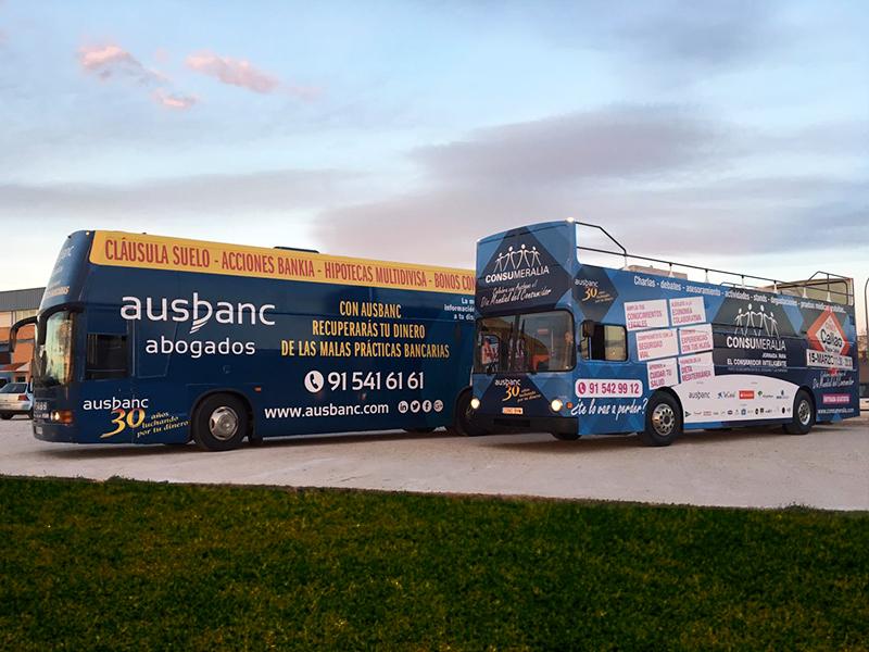 """Ausbanc """"Consumeralia"""" autobuses"""
