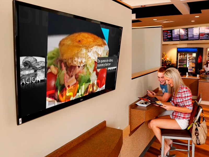 Bacciu bar de tapas - Digital signage