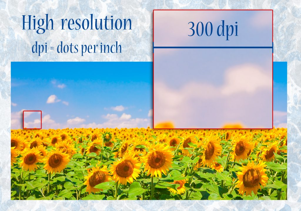 High resolution 300 dpi, ideal for physical support.