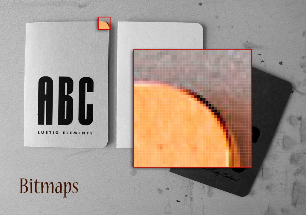 Bitmaps: .jpg, .png, .gif, .tiff, .pdf