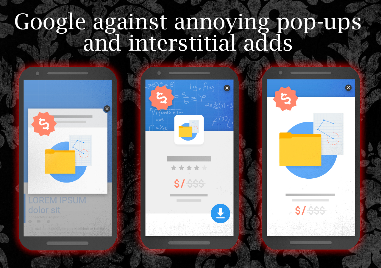 Google against annoying pop-ups