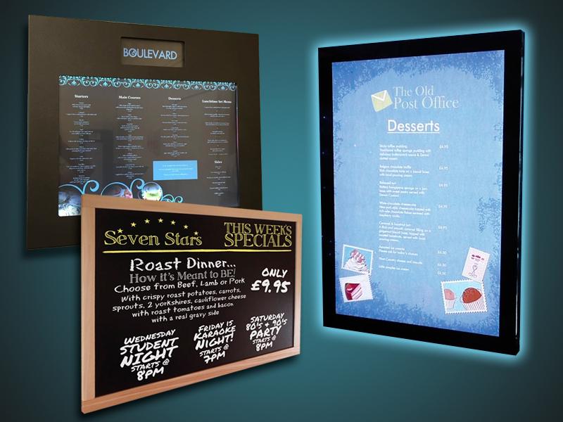 Servicios gráficos y web para hostelería - Expositores