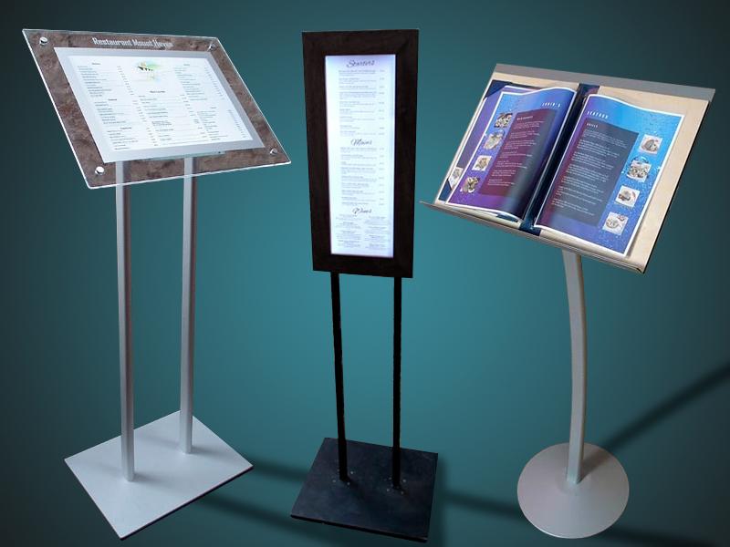 Servicios gráficos y web para hostelería - Expositores de pie
