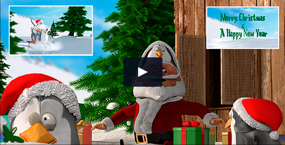 13. Video christmas Pinguinos 3D