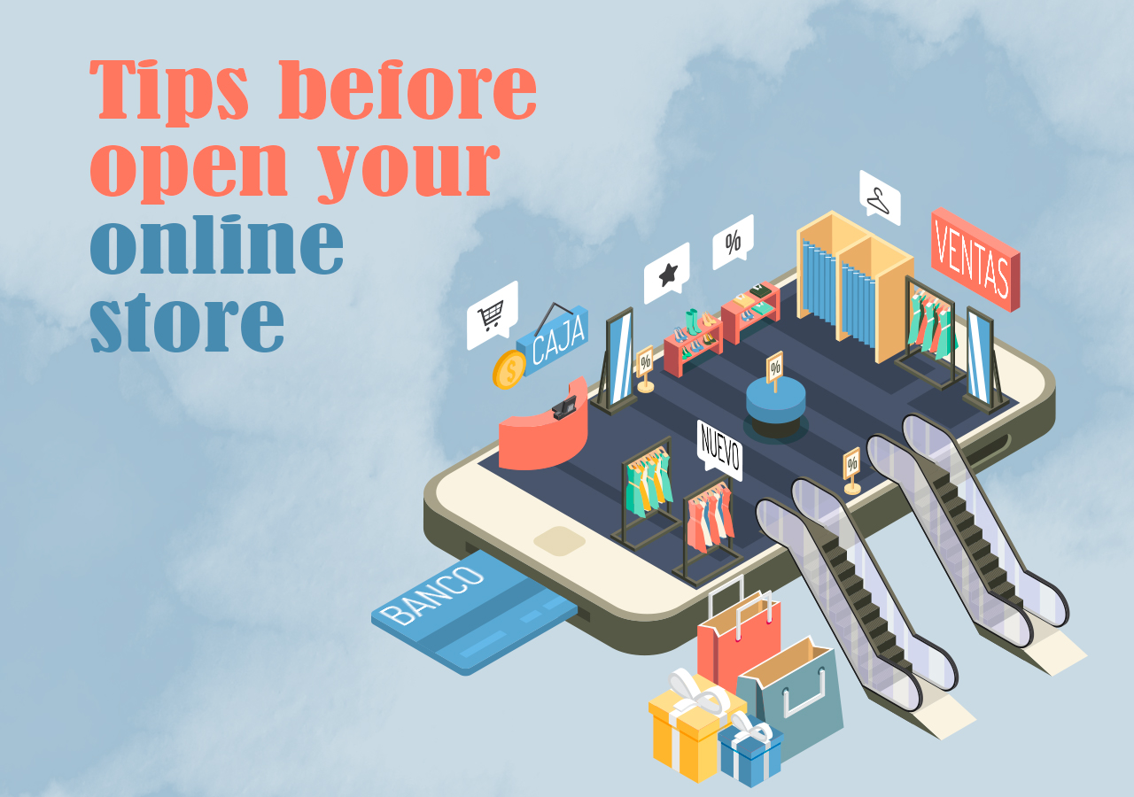 Tips before open your online store