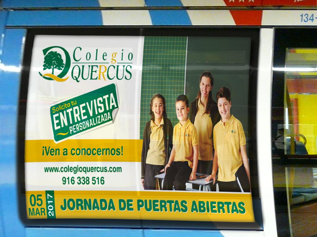 colegio quercus campaña 2017 metro ligero