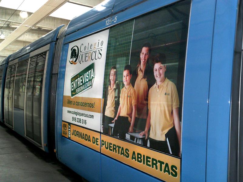Metro Ligero Colegio Quercus 2017 diseño