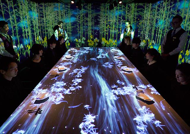 Arte culinario y arte digital - TeamLab