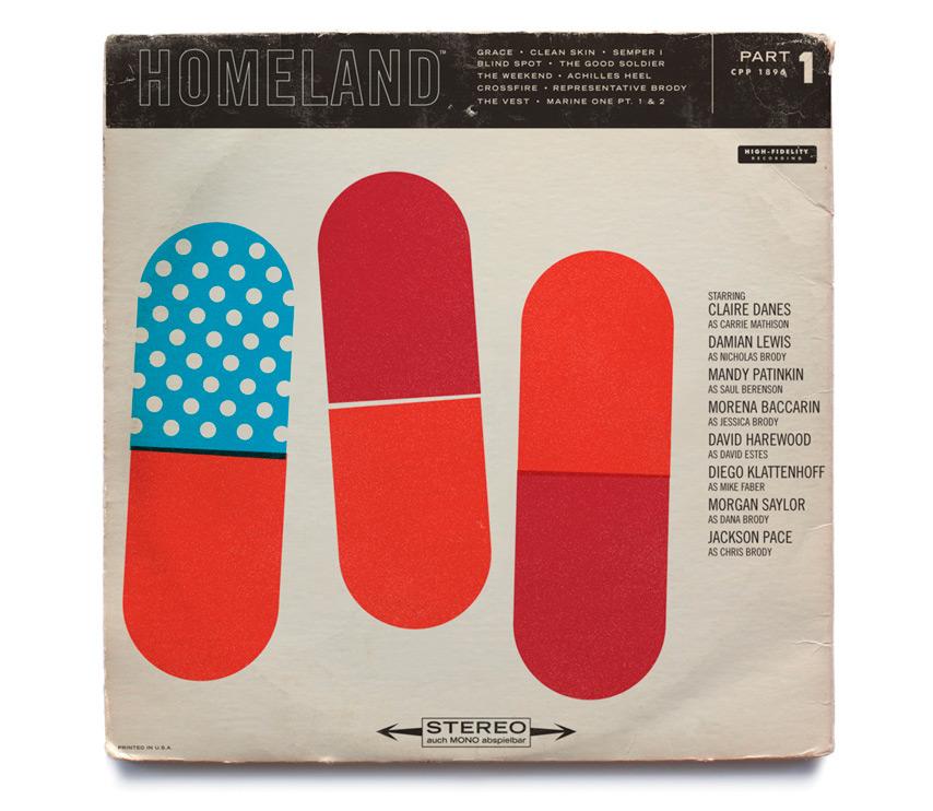 Homeland como portadas de discos de jazz