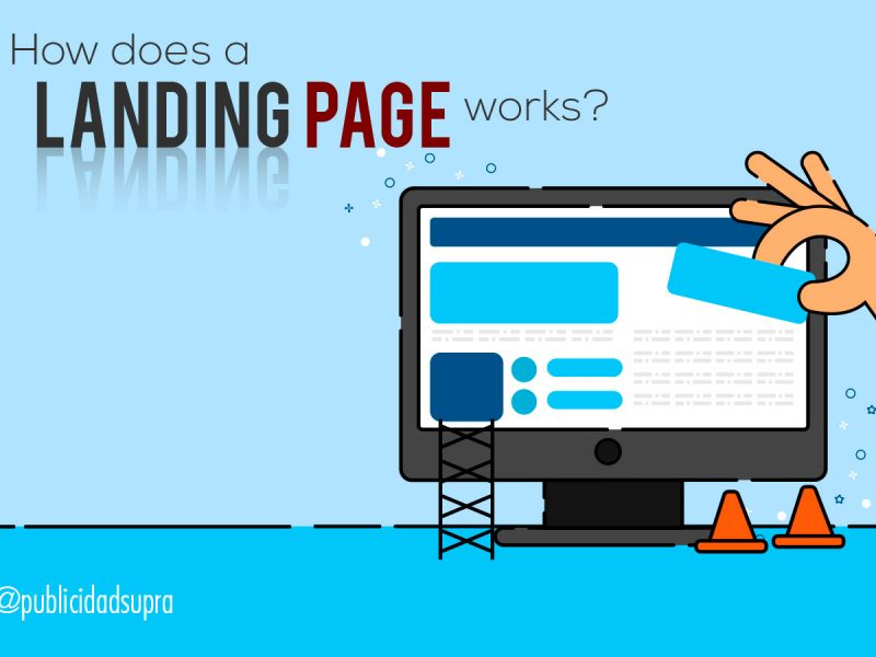 What is a landing page made for?