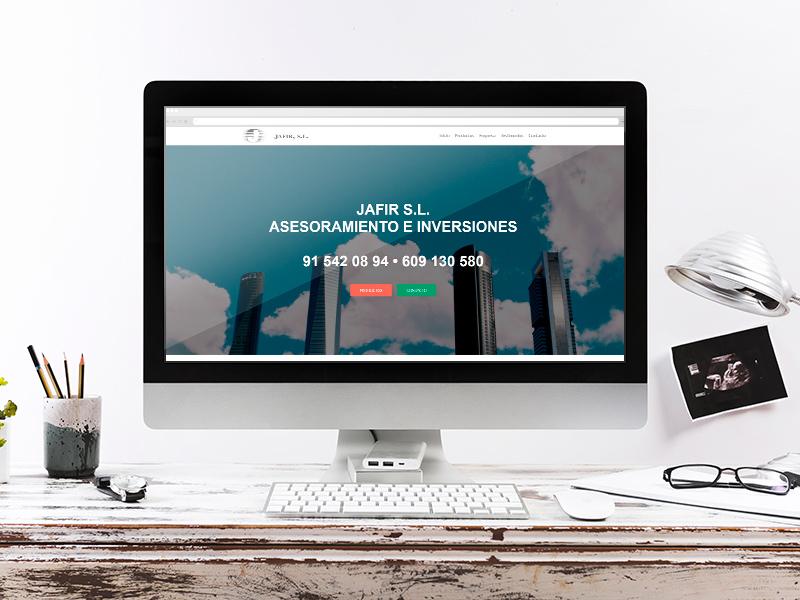Jafir - Diseño de página web