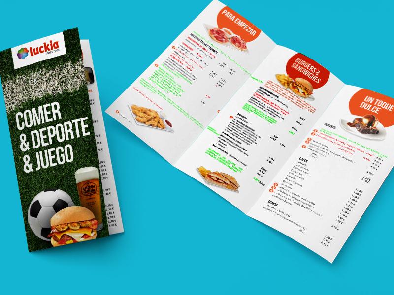 Luckia Sport Café - Carta restaurante
