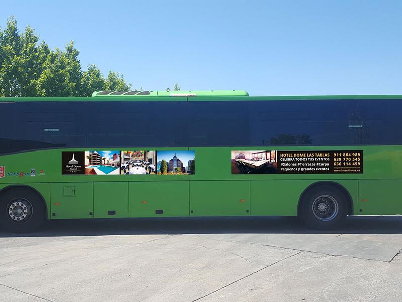 Hotel Dome - Publicidad exterior autobuses