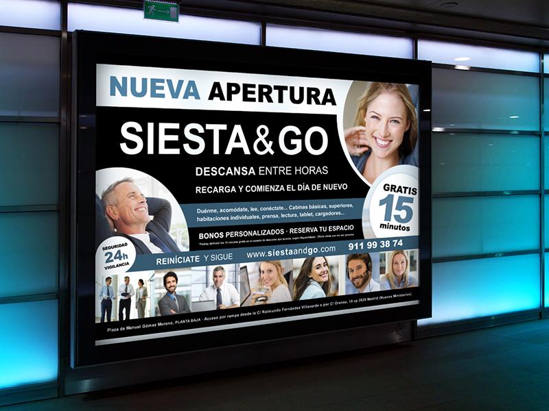 Siesta and Go - Publicidad exterior - Publicidad en metro