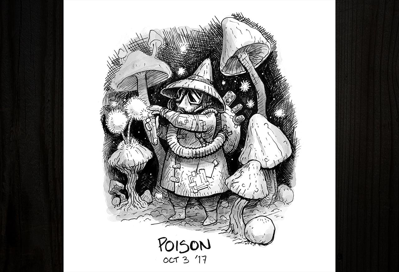 Inktober, un mes de ilustración y tinta